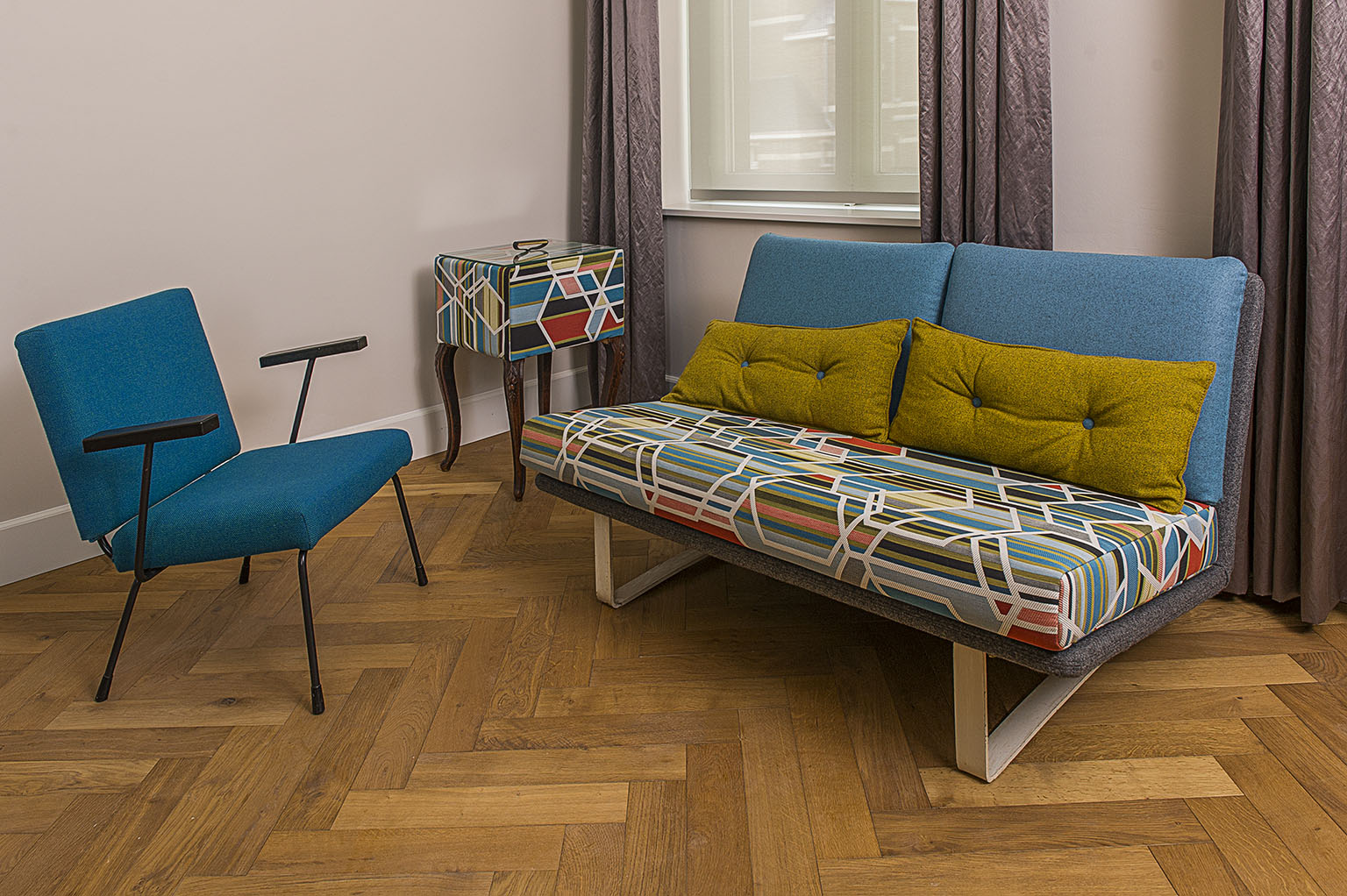 Upholstered with different fabrics Kvadrat